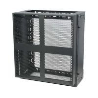 12U x 4U Wall Rack shown with 2 side panels and front cover