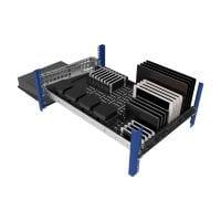 """1U Modular Sliding Shelf 28"""" with 2U Cantilever Modular Shelf 13"""" Installed with installed brackets"""