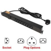 8 Way, 10 Amp, IEC C13, Horizontal Rack Mount Power Strips