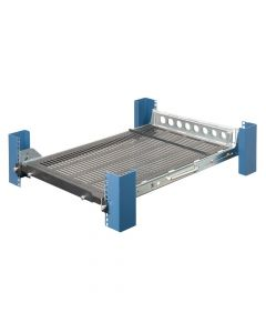 (115-1516) Tool-less Equipment Shelf - Front view with CMA