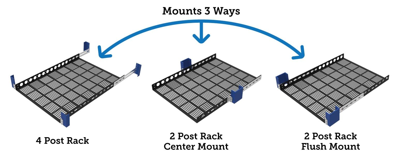How to mount server rack shelf