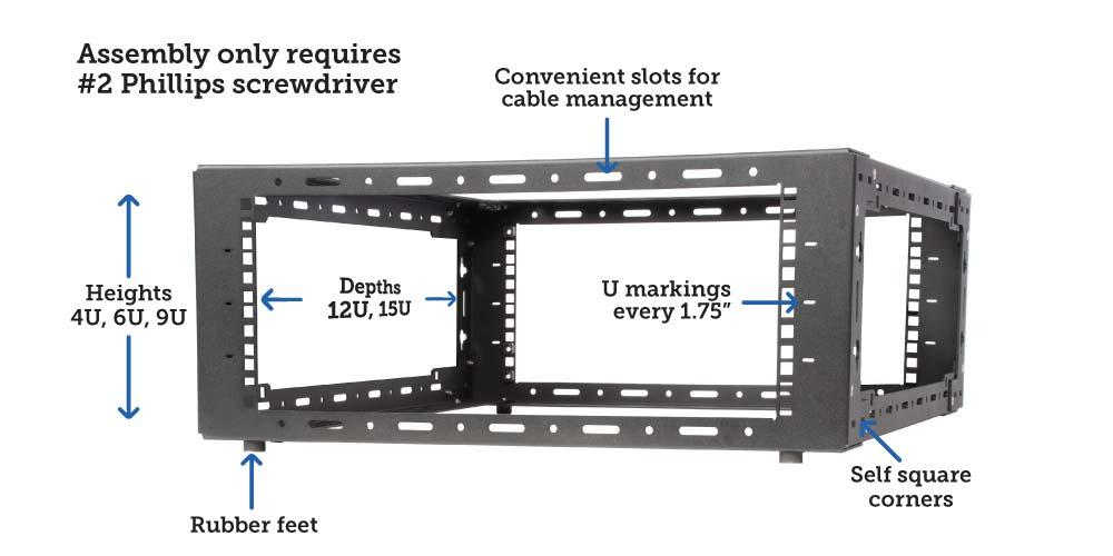 Desktop Server Rack Features