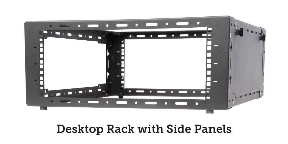 Desktop rack with side panels