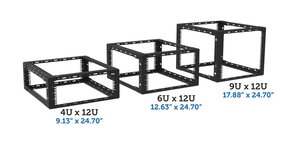 4U, 6U, 9U x 12U desktop rack