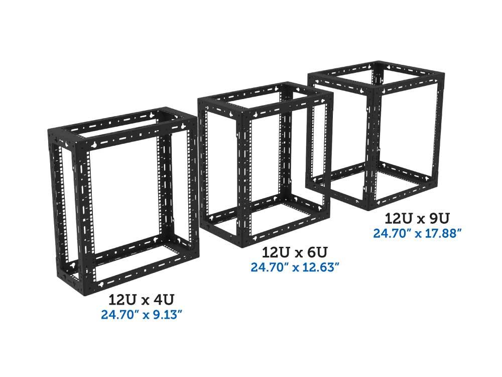 12U x 4u, 6u, 9u wall mount rack