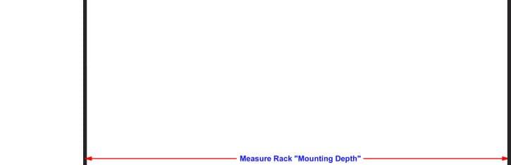 Measure rack mounting depth