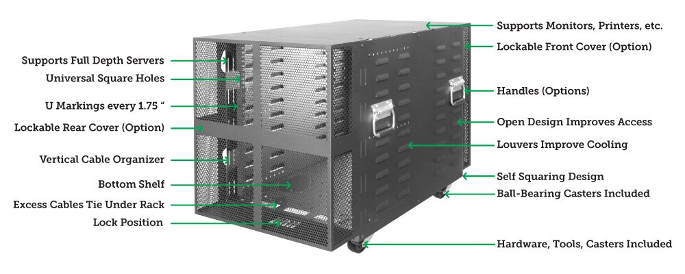 RACK-117 12U Portable Server Rack
